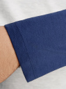 Футболка с длинным рукавом комбинированная oodji #SECTION_NAME# (серый), 5L515003M/44200N/2075B - вид 5