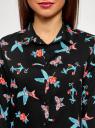Блузка базовая из вискозы oodji #SECTION_NAME# (черный), 11411136B/26346/2973O - вид 4
