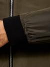 Бомбер прямого силуэта на молнии oodji #SECTION_NAME# (зеленый), 1L511062M/48605N/6600N - вид 5