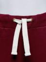 Брюки спортивные с завязками oodji для женщины (красный), 16701010-2/43547/4910P