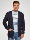 Кардиган ажурной вязки с карманами oodji #SECTION_NAME# (синий), 4L605047M/25365N/7900N - вид 2