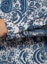 Блузка базовая из вискозы oodji #SECTION_NAME# (слоновая кость), 11411136B/26346/1275E - вид 5