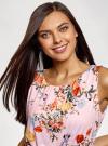 Платье макси с завязками на талии oodji #SECTION_NAME# (розовый), 24005137-1/46943/4019F - вид 4