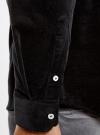 Рубашка slim из вельвета oodji #SECTION_NAME# (черный), 3L110218M/44424N/2900N - вид 5