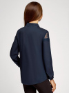 Блузка с кружевными вставками oodji для женщины (синий), 21401400M/31427/7900N - вид 3