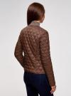 Куртка стеганая с круглым вырезом oodji #SECTION_NAME# (коричневый), 18304005/47048/3900N - вид 3