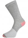 Комплект высоких носков (3 пары) oodji #SECTION_NAME# (разноцветный), 57102902T3/47469/20