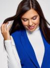 Жилет удлиненный приталенный oodji для женщины (синий), 12300099-9/18600/7501N - вид 4