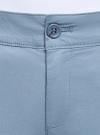 Брюки-чиносы хлопковые oodji для женщины (синий), 11706207B/32887/7400N - вид 4