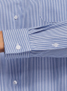 Рубашка с нагрудным карманом и вышивкой oodji для женщины (синий), 13K11023-2/33081/7510P