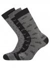 Комплект из трех пар носков oodji #SECTION_NAME# (черный), 7O233003T3/47469/2619J - вид 2