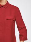 Блузка из струящейся ткани с регулировкой длины рукава oodji #SECTION_NAME# (красный), 11403225-1B/45227/4500N - вид 4