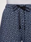 Брюки вискозные на завязках oodji для женщины (синий), 13F11001-1B/26346/7970G - вид 5