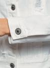 Куртка джинсовая oodji для женщины (белый), 11109037/49348/1000N - вид 5