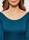 Платье облегающее с вырезом-лодочкой oodji #SECTION_NAME# (зеленый), 14017001/42376/6C01N - вид 4