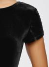 Платье миди с вырезом на спине oodji #SECTION_NAME# (черный), 24001104-8B/48621/2900N - вид 5