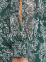 Платье шифоновое с манжетами на резинке oodji #SECTION_NAME# (зеленый), 11914001/15036/6912E - вид 5