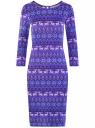 Платье трикотажное с вырезом-капелькой на спине oodji #SECTION_NAME# (фиолетовый), 24001070-5/15640/7512E