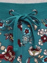 Брюки трикотажные на завязках oodji для женщины (зеленый), 16701042-1B/46919/6D49F