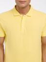 Поло из ткани пике oodji #SECTION_NAME# (желтый), 5B422001M/44032N/5200N - вид 4
