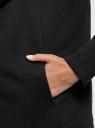 Кардиган на искусственном меху с запахом oodji для женщины (черный), 19207001/18586/2900N