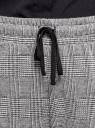 Брюки трикотажные на завязках oodji #SECTION_NAME# (серый), 16701073/49398/2912G - вид 4