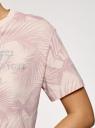 Топ принтованный укороченный oodji для женщины (розовый), 15F08002-1/47885N/3391P