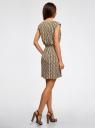 Платье вискозное без рукавов oodji #SECTION_NAME# (зеленый), 11910073B/26346/6645O - вид 3