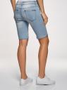 Шорты джинсовые удлиненные oodji для женщины (синий), 12807054B/45877/7000W