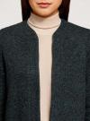 Кардиган из фактурной ткани с накладными карманами oodji #SECTION_NAME# (черный), 19201003/49599/296EM - вид 4