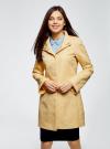 Пальто прямого силуэта из фактурной ткани oodji #SECTION_NAME# (желтый), 10104043/43312/5200N - вид 2