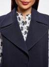 Жилет удлиненный с объемными лацканами oodji для женщины (синий), 22305003/38095/7900N - вид 4