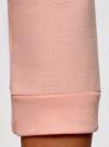 Свитшот базовый с рукавом 3/4 oodji #SECTION_NAME# (розовый), 14801021-3B/45493/4000N - вид 5