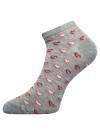 Носки укороченные с узором oodji #SECTION_NAME# (серый), 57102463/35383/234DG - вид 2