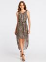 Платье с асимметричным низом oodji для женщины (серый), 21901109-3/17288/2520A