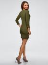 Платье вязаное с рукавом 3/4 oodji #SECTION_NAME# (зеленый), 63912222-2B/45109/6800N - вид 3