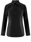 Рубашка базовая с нагрудными карманами oodji #SECTION_NAME# (черный), 11403222B/42468/2900N