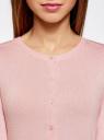 Жакет вязаный на пуговицах oodji #SECTION_NAME# (розовый), 73212401-1B/45904/4000N - вид 4