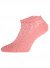 Комплект ажурных носков (3 пары) oodji #SECTION_NAME# (розовый), 57102702T3/48022/6 - вид 2