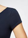 Платье миди (комплект из 2 штук) oodji #SECTION_NAME# (синий), 24001104T2/47420/7900N - вид 5