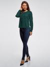 Блузка шифоновая в стиле милитари oodji #SECTION_NAME# (зеленый), 11411062/43291/6E00N - вид 6