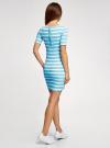 Платье прилегающего силуэта в рубчик oodji #SECTION_NAME# (синий), 14011012/45210/7010S - вид 3