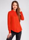 Блузка с металлическими стразами oodji #SECTION_NAME# (красный), 21401247/32823/4500N - вид 2