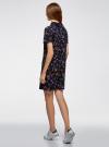 Платье-поло из ткани пике oodji #SECTION_NAME# (синий), 14001223/48558/7941F - вид 3