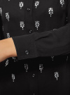 Блузка из струящейся ткани с украшением из страз oodji #SECTION_NAME# (черный), 11411128/36215/2900N - вид 5