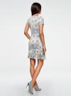 Платье трикотажное с воланами oodji #SECTION_NAME# (разноцветный), 14011017/46384/3025E - вид 3