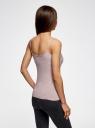 Топ трикотажный на тонких бретелях oodji для женщины (бежевый), 14305023-1B/46147/3300M