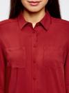 Блузка базовая из вискозы oodji #SECTION_NAME# (красный), 11400355-3/26346/3100N - вид 4