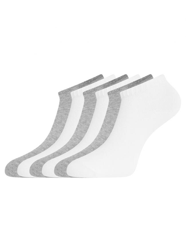 Комплект укороченных носков (6 пар) oodji для женщины (разноцветный), 57102433T6/47469/85