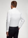 Рубашка базовая приталенная oodji для мужчины (белый), 3B140000M/34146N/1000N - вид 3